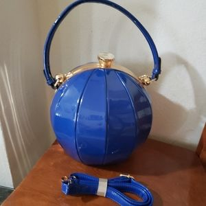 New cute oval bag with strap blue NEW